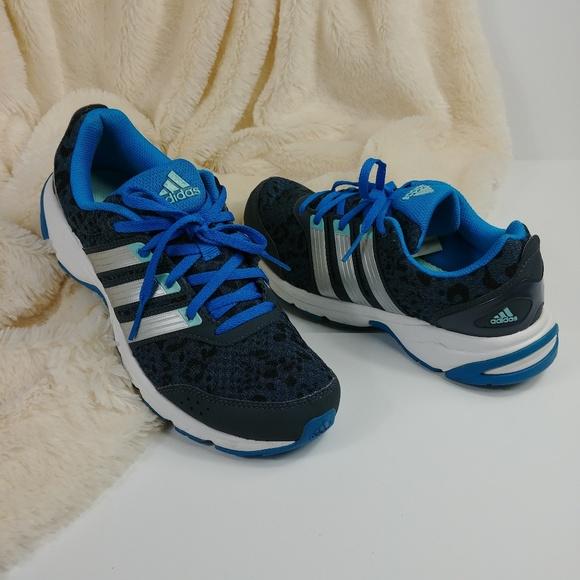 Adidas Run Smart Blue Leopard Running Sneakers